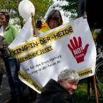 Wir waren dabei: Kein Fracking in  der Heide ( - und weitere 1700 Mitstreiter, sagt die Polizei - die Presse meldet 1300)