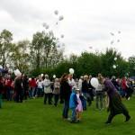 Gleich geht's los (einige  Ballons hatten sich schon vorgedrängelt)...